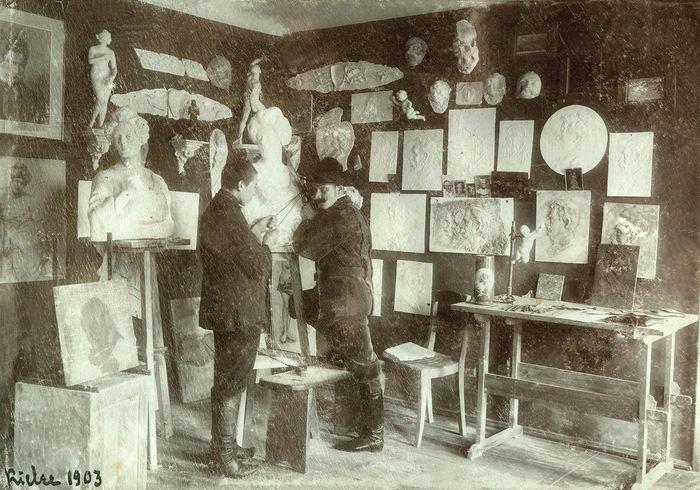 Pracownia Władysława Gruberskiego w Kielcach, 1903 r.
